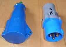 CEE Stecker oder Kupplung blau 3-polig 16A 230V   Caravan Camper
