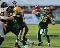 CFL Ricky Ray Edmonton Eskimos Game Action Color 8 X 10 Photo Picture