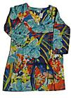 LONG SLEEVES EMBROIDERED COTTON FUNKY COMFY BEACH TUNIC DRESS KAFTAN SIZE 12-18