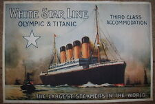 Titanic & Olympic  White Star Line poster***