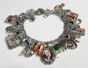 Wizard Of Oz Charm Bracelet Hand Crafted Glass Dorothy Toto Loaded