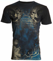 Archaic AFFLICTION Mens T-Shirt NEWMAN Skulls Fight Tattoo Biker UFC M-4XL $40