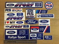 Collection of Ford RS Rally Stickers X15 Decal/car/van/wall/laptop.