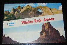 Greetings Window Rock, Arizona AZ Shiprock, New Mexico NM Putley Postcard PC