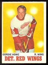 1970 71  OPC O PEE CHEE HOCKEY #29 GORDIE HOWE VG-EX DETROIT RED WINGS card