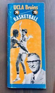 1974/1975 UCLA Bruins NCAA Basketball Media Guide Program Schedule John Wooden