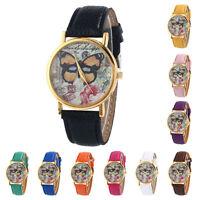 New Fashion Womens Watches Leather Band Analog Quartz Vogue Wrist Watches