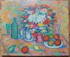 Nathan Gutman huile sur toile signée Judaica Art Ecole de Paris nature morte