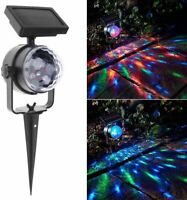 Solar Laser Lights Outdoor Lawn Snowflake LED Christmas Lights for Garden Lamp