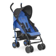 Poussette de promenade bleus avec poignée de transport pour bébé