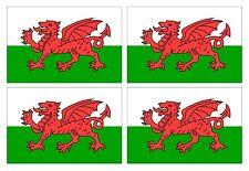4pcs Welsh Dragon Wales CYMRU Flag vinyl car motorcycle sticker 90x60mm each