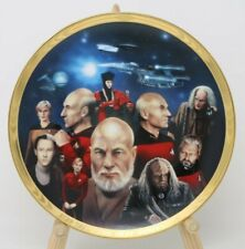 Star Trek The Next Generation All Good Things Collector Plate w/Coa Clean