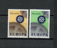 S34114 Island Iceland MNH 1967 Europa 2v