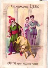 1litho trade card c1872 LIEBIG nr 24 - oiseau bleu king & pig Mertens Bruxelles