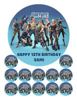 FORTNITE Edible Wafer Cake Decoration Image Topper & 12 Cupcake Cup Cake Images