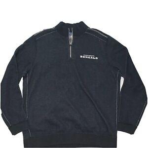 Mens NFL Cincinnati Bengals Tommy Bahama Reversible Half Zip Sweater Size M NWT
