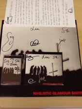SIGNED-CABBAGE-RED VINYL LP/CD/LYRIC SHEET/CASSETTE-NIHILISTIC GLAMOUR SHOTS-MUP