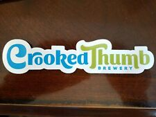 CROOKED THUMB brewery craft beer STICKER logo Safety Harbor FL