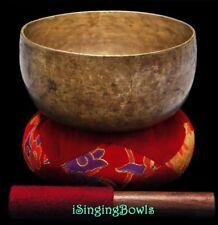"Antique Tibetan Singing Bowl: Thado 7 1/4"", ca. 18th Century, F#3 & C5. w/ VIDEO"