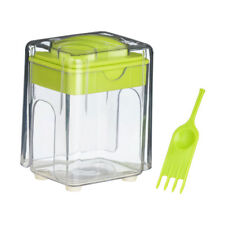 Potato Chipper Lime Green Clear Plastic French Fries Cutter Kitchen Slicer