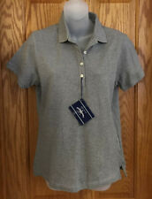Polo Shirt Outer Banks Gray Top Short Sleeve Collared Womens Size Small New