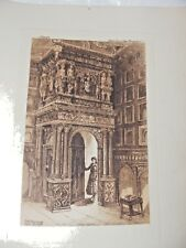 ANTIQUE ETCHING OF GATE DOORWAY, RED LODGE, BRISTOL FROST REED ENGRAVING