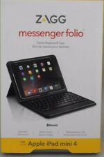 ZAGG IM4BSF-BB0 Messenger Folio Tablet Keyboard Case for Apple iPad mini 4 black