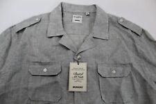 MURANO BAIRD McNUTT Linen Shirt Mens Size XL Light Olive