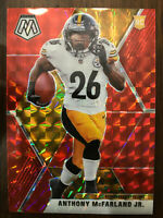 Anthony McFarland Jr 2020 Mosaic Red Prizm Rookie Card #237 -Pittsburgh Steelers