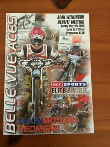 2003 BELLE VUE ALAN WILKINSON BENEFIT Mt 4th MAY  ( RE-ISSUED 4th AUGUST  )