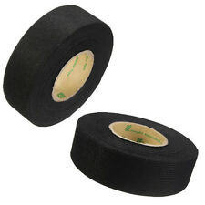 Black Flannel 25mmx15m Roll Self-Adhesive Cloth Fabric Tape Cable Loom tape