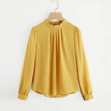 Fashion Summer Womens Casual Chiffon Long Sleeve Shirt Ladies Loose Tops Blouse