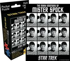 Star Trek The Many Emotions of Mister Spock 100 Piece Pocket Puzzle, New Sealed