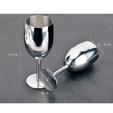 2pcs/set Stainless Steel Wine Glass Goblet Red White Wine Cup Set for Party