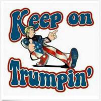 6 Pack Keep On Trumpin Sticker Decal Donald Truck Patriotic POTUS Deplorable Car