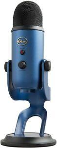 Blue Yeti USB Microfono a Condensatore Streaming Registrazione Professionale BLU