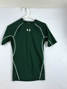 Under Armour UA Heatgear Shirt Mens M Short Sleeve Compression Green
