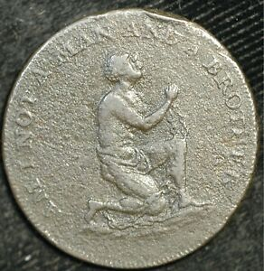 Middlesex Halfpenny Conder Token Anti Slavery Am I Not A Man And A Brother (117)