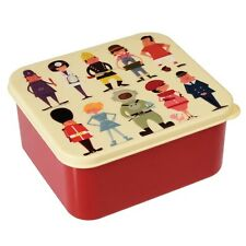 dotcomgiftshop PLASTIC LUNCH BOX WITH PUSH ON LID WORLD OF WORK DESIGN