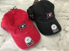 Lot of 2 Nwt Mens Hats 47 Forty-Seven Uga Georgia Bulldogs Golf Course