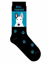 Bull Terrier Socks Lightweight Cotton Crew Stretch Egyptian Made