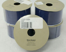 "Organza Blue Gift Trim Wrap 25 Yards 1 1/2"" Ribbon for Holidays, Christmas"