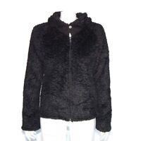 Patagonia Synchilla Teddy Fleece Black Full Zip Jacket Women's size Medium / 319