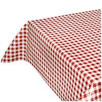 Tovaglia cucina antimacchia al metro h140 su misura quadretti rossi classica