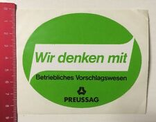 Aufkleber/Sticker: Preussag-Betriebliches Vorschlagswesen-Wir Denken (09031656)