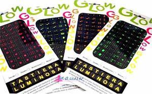 3 Adesivi Fluorescenti per tastiera del computer PC