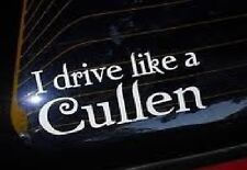 edward cullen twilight i drive like a cullen vinyl car sticker new moon