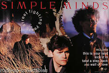 Simple Minds 1989 Street Fighting Years Original Double Sided Promo Poster