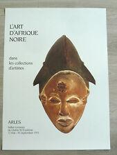 AFRIQUE NOIRE Affiche originale Arles Masque Punu Gabon Sculpture Ethnic Tribal