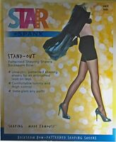 SPANX Stand-Out Patterned Shaping Sheers Backseam Bow - Black - NEW OPEN BOX